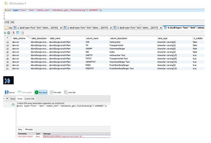 CallPostreSQLStoredProcedureFunction1