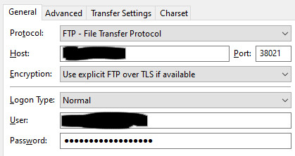 connection with ftp not working